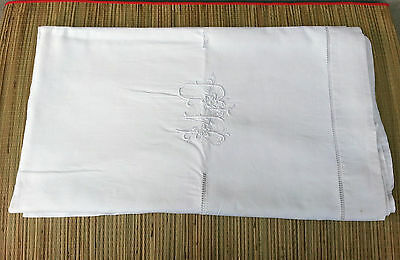 Antique Sheet Cotton Monogram Trim Embroidered, Embroidery Tulle Netting