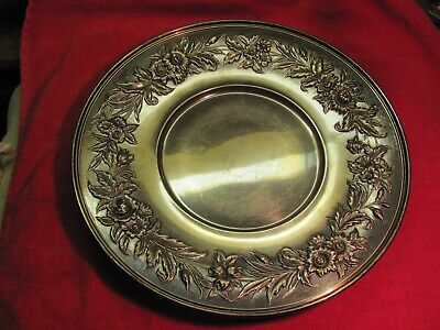 A Rare Antique Nicely Toned Repousse S.kirk & Sons Sterling Silver Tray 727