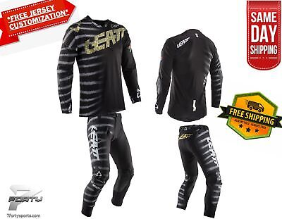 Leatt GPX 5.5 Kit Gear Combo Zebra MX Motocross Dirtbike ATV/UTV OffRoad SameDay