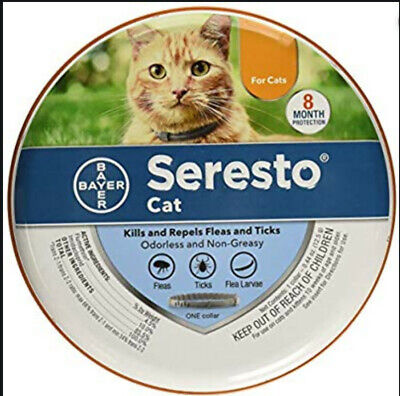 NEW Bayer Seresto Cat 8 Month Protection Against Fleas & Ticks One Collar