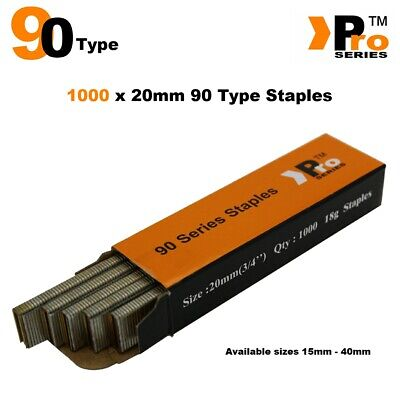 90 Type Staples: Size 20mm ( 1000 Staple Handy Pack )