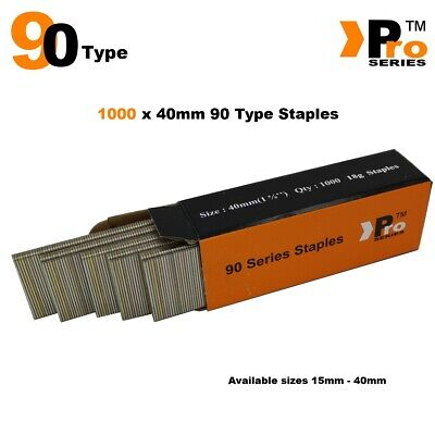 90 Type Staples: Size 40mm ( 1000 Staple Handy Pack )