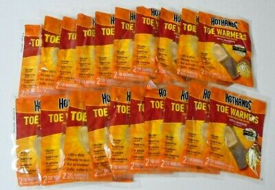 HotHands Toe Warmers 20 Pair (40 Individual) w/Adhesive BRAND NEW