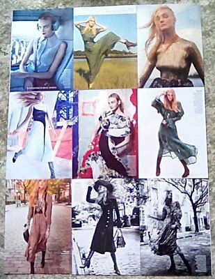 * Supermodel Caroline Trentini Clippings Pack 35 Full Pgs Vogue Photoshoots + *