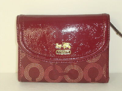 NWT wallet Coach madison dotted medium 48643