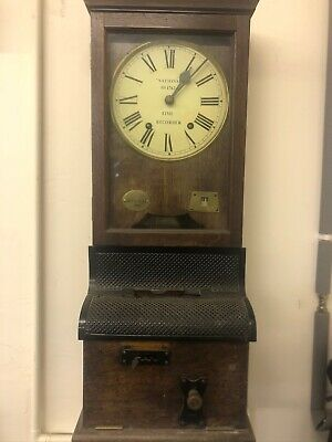 Very Early Vintage Pendulum Clock National Time Recorder Between 1922 1932