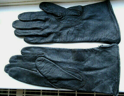 VINTAGE 1970s LADIES BLACK LEATHER LEATHER GLOVES SIZE 7 GRANTS OF CROYDON