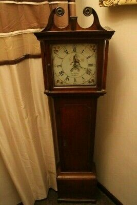 Antique oak  longcase clock 18th century John Verow hinckley dated 1795