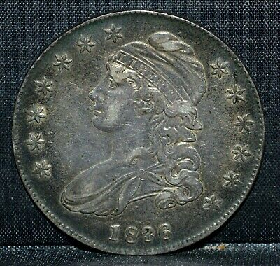 1836 Capped Bust Half ✪ Xf Extra Fine ✪ 50C Silver L@@K Now Choice ◢Trusted◣