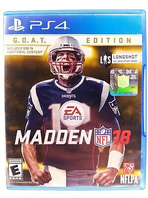 PS4 Madden NFL 18 G.O.A.T. Edition PlayStation 4 Football Tom Brady - Complete