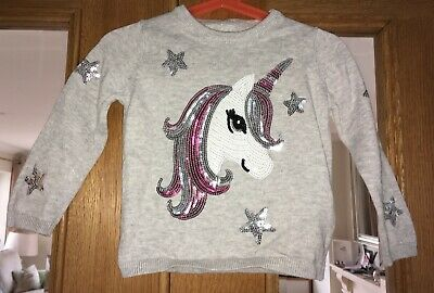Baby Girls Grey Unicorn Top Size 18-24 Months