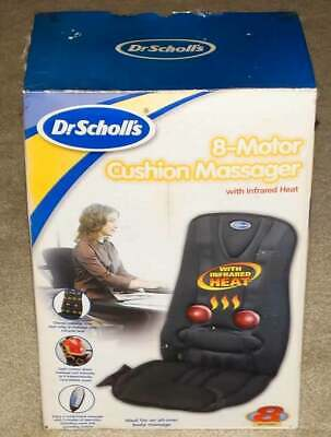 Dr. Scholl's 8-Motor Cushion Massager w/ Infrared Heat Unused Open Box Massage