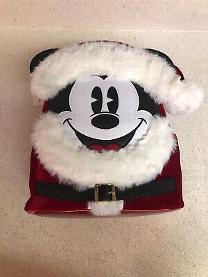 Disney Parks Christmas Santa Mickey Mouse Mini Backpack New with Tag