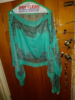 Jack & Missy CAREFREE convertible poncho Ladies one size fits most Turquoise/pai
