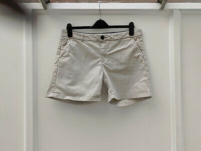 Fat Face Beige Shorts Holiday Summer Cotton Size 14 (328)