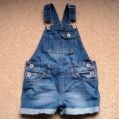Girl's DENIM CO. Dungaree Play Suit 3-4 Yrs Playsuit Dungarees Jeans Jump Shorts
