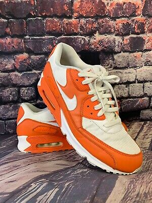 NIKE AIR MAX 90 Orange Blaze White, Men's Size 12 325018