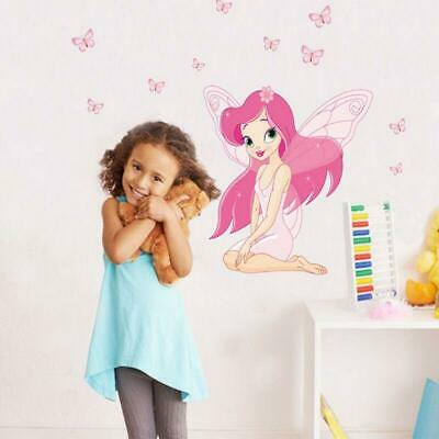 Butterfly Fairy Princess Decal Wall Stickers Mural Girl Baby Kids Room Decor US