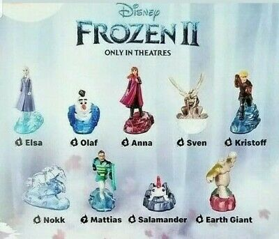 2019 Mcdonald's Frozen 2 Toys. Complete Set Of 9 Toys.  Free Shipping!!