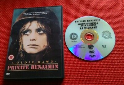 Private Benjamin DVD (1980) Goldie Hawn-Army 80's comedy-Good condition