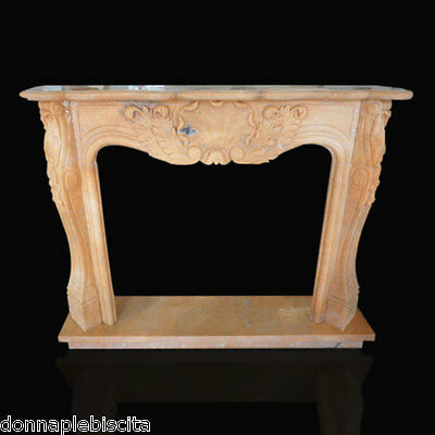 Rahmen Kamin Kamin in Marmor Rosa Portugal Classic Fireplace Marble Frame