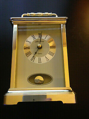 Seth Thomas Quartz Carriage Mantel Shelf Clock With Pendulum Model 243 Tested
