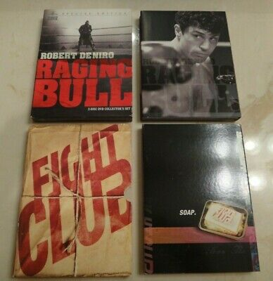TWO Special Collector's Edition 2-Disc DVD Sets RAGING BULL & FIGHT CLUB Movies
