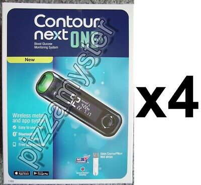 * 4x Wireless Contour NEXT ONE Blood Glucose Meter Monitoring System - Bluetooth