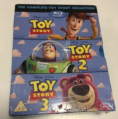 TOY STORY Blu-Ray Box Set Complete 1-3 Disney Pixar Collection Show Woody Lot UK