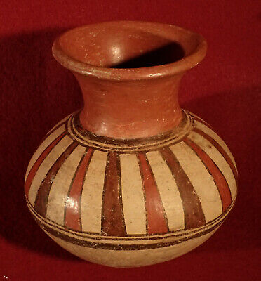 Pre-Columbian Panama Cocle Pottery Olla Jar  Wonderful Paint