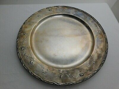 "1930s GORHAM Sterling Silver .925 Platter 14.5"" Tray Dish *40 Troy Ounce Plate"