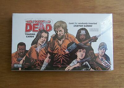 2012 The Walking Dead comic book (set 1) sealed trading card box. Sketch