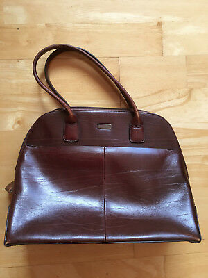 Authentic brown  leather Vintage OROTON  Griptop Handbag