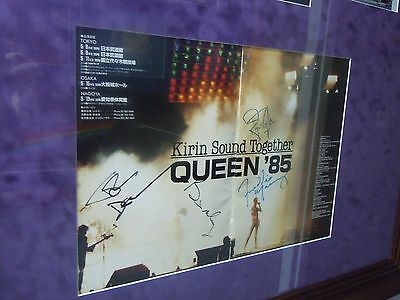Queen Freddie Mercury Autographs Authentic Signed Japanese Program Beautiful!