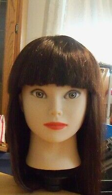 cosmetology mannequin head used with clamp for table