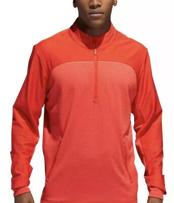 $90 Adidas Golf Go-To 1/4 Zip Men's Sz LARGE Water Resistant Sweater DN3405 NWT