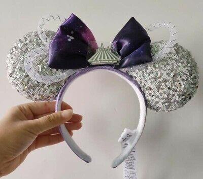 New arrival Disney Parks silver Mickey Minnie Mouse Headband