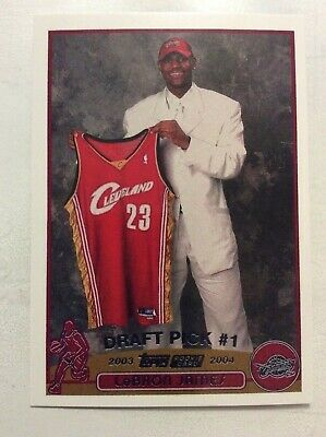 LEBRON JAMES 2003 Topps #1 Draft Pick Rookie Card RC Reprint