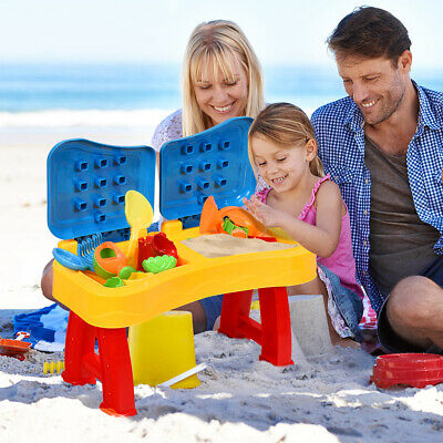 2 IN 1 30pcs Children Kids Sand and Water Table Set Sandpit Beach Play Toy Set
