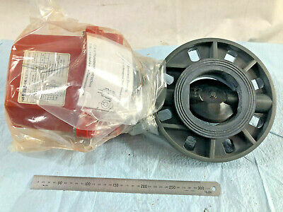 """Plastic 4"""" Sanking Butterfly Valve with UM3 24VDC Electric Actuator. Made Taiwan"""