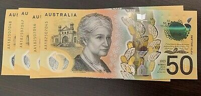 4 X 2018 New Generation First Prefix 'Aa18' Lowe/Fraser $50 (Fifty) Dollar Notes