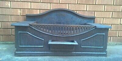 Antique Metters Cast Iron Fireplace Insert - Vintage Wood Fire Place