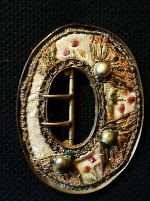 Antique French Hand Embroidered Buckle