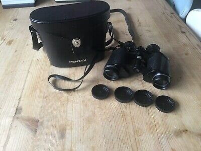 Pentax 8 x 30 Field 7.5 Binoculars Model 601 With Carry Case Great Condition