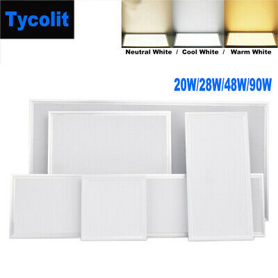 20W/28W/48W/90W Ceiling Suspended Recessed LED Panel White Light Office Lighting