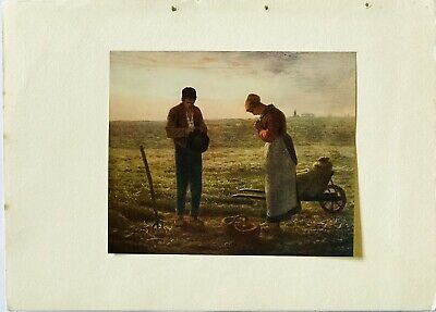 Reduced Antiquarian Print: The Angelus By Jean Millet