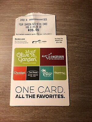 Darden Restaurants $35 Gift Card - Olive Garden, Longhorn, Yard House, etc.