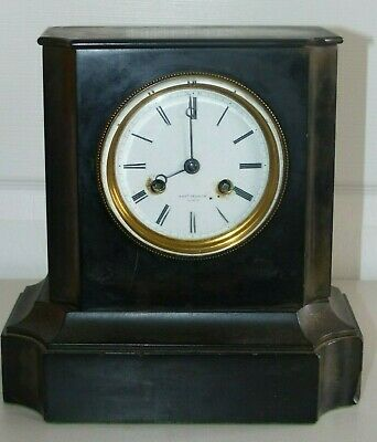 Antique French Black Slate Clock – Thos Pearce – Spares / Repair
