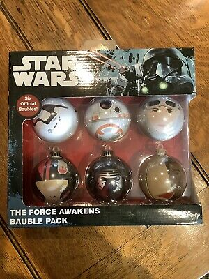 Disney Christmas Tree Decorations - Star Wars The Force Awakens Bauble pack