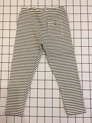 Zara Leggings, Unisex, Monochrome Stripes, Age 3-4